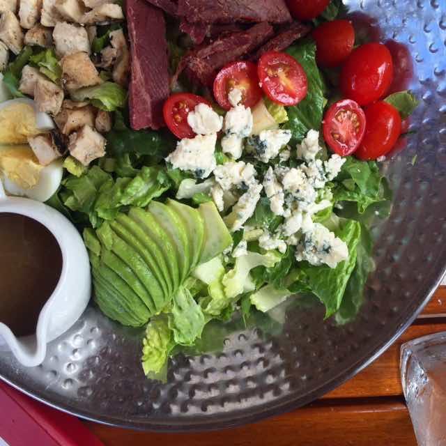 Doesn't lunch look good? It's a Hawaiian Cob Salad @westinmaui #westinpoolside #relishmaui