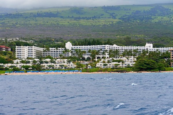 We passed by the Fairmont on the way back from our sailing trip to Molokini.