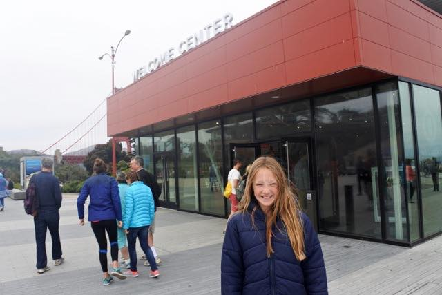 The Golden Gate Bridge Welcome Centre is a destination in itself!