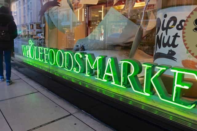 """Wholefoods, aka Whole Paycheck"""" is one of my favourite grocery stores in the US. The Kensington store is the flagship London shop and it's amazing!"""