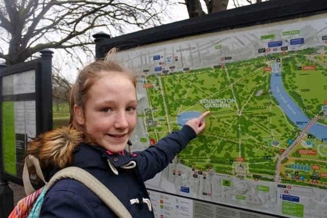 Kensington Gardens is right next door to the Royal Garden Hotel.