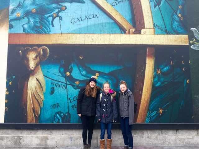 Hanging out in Trafalgar Square.