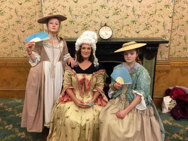 Dressing up as Georgian courtiers in Kensington Palace! We stopped by on our London trip this halfterm. The girls were intrigued that Diana, William and Kate, and Queen Victoria all had lived there! Makes a great family visit (kids are free).